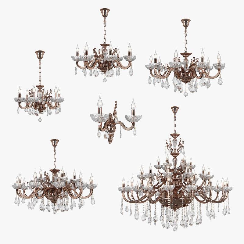 chandelier artifici osgona 3D model