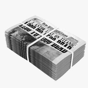 3D newspaper news