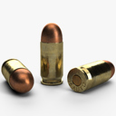 .45 ACP cartridge 3D models