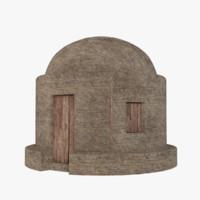 mud hut 4 3D model