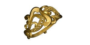 gold ring model