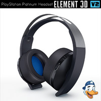 3D playstation platinum headset