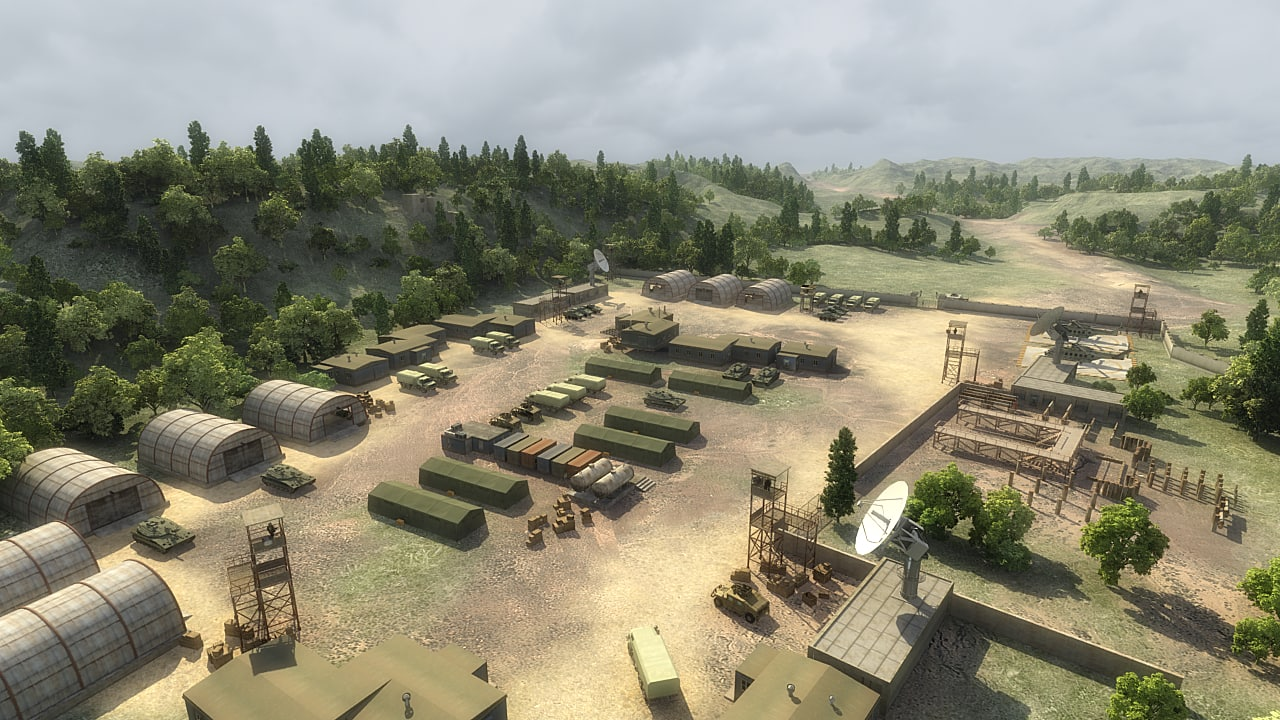 3D military camp