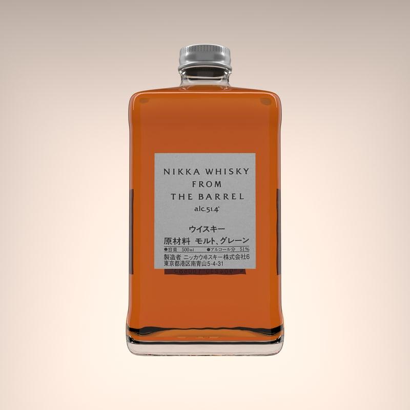 nikka whisky barrel 3D