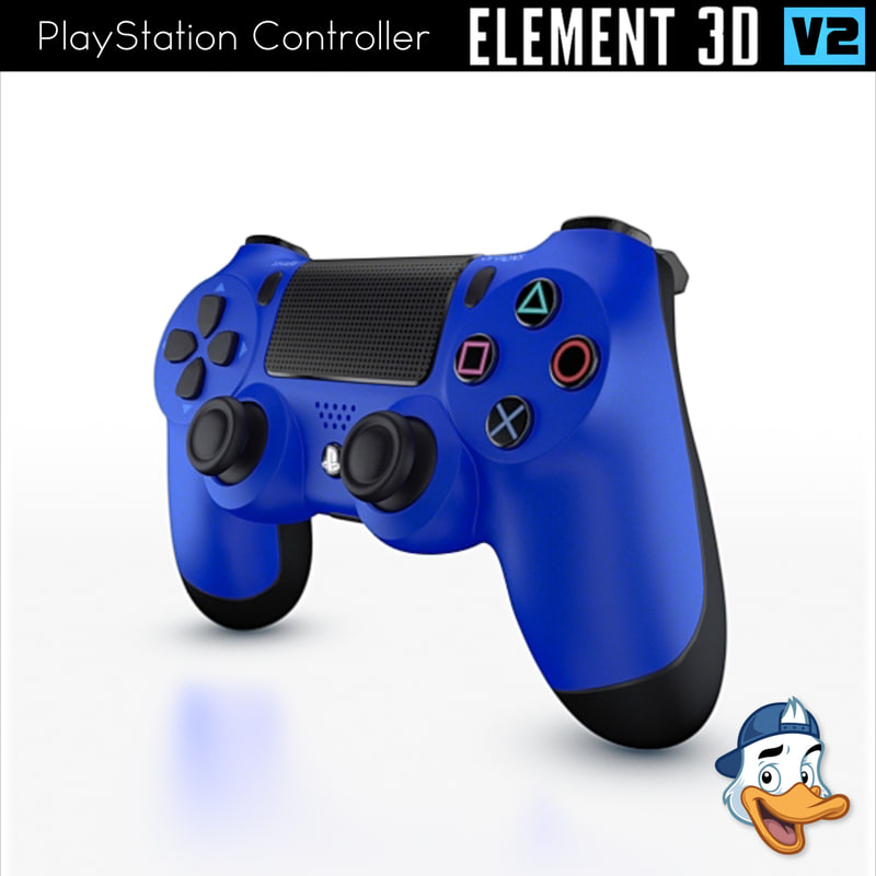 playstation controller element 3D model