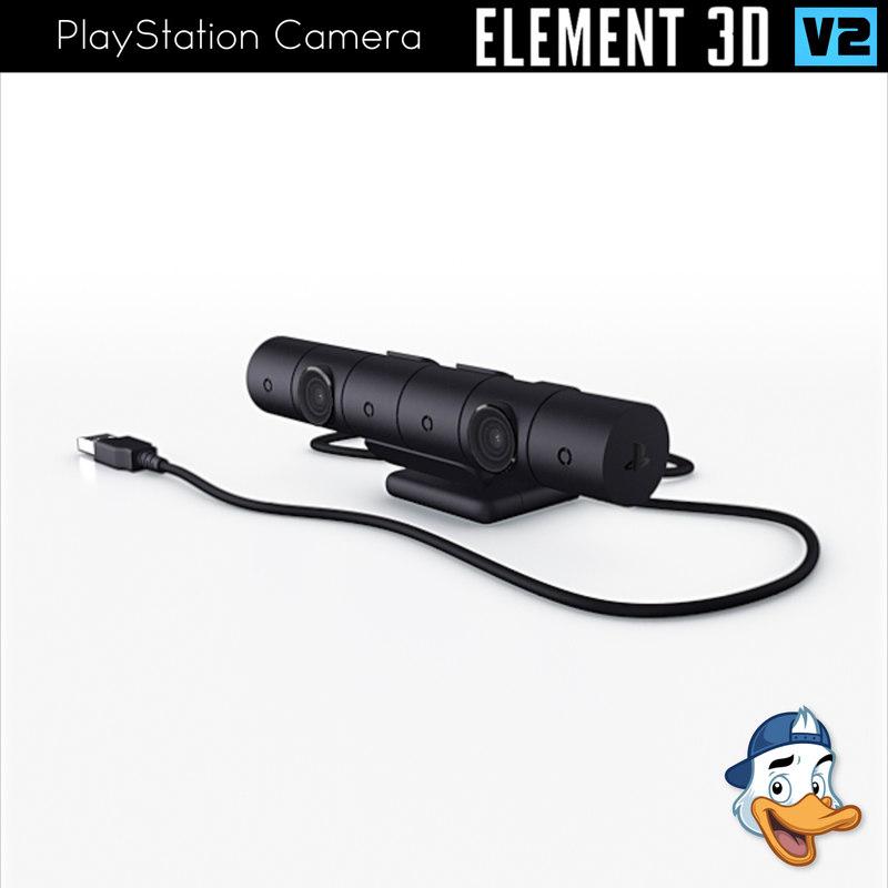 playstation camera element 3D model