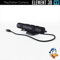 playstation camera element 3D model