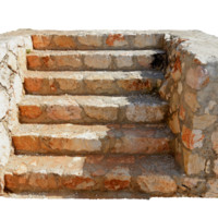3D model stone staircase