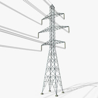 3D power tower 4 model