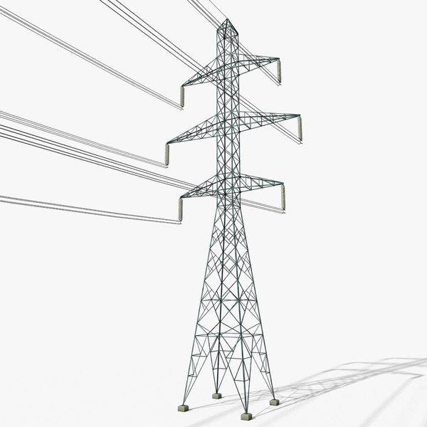 3D power tower 4 model