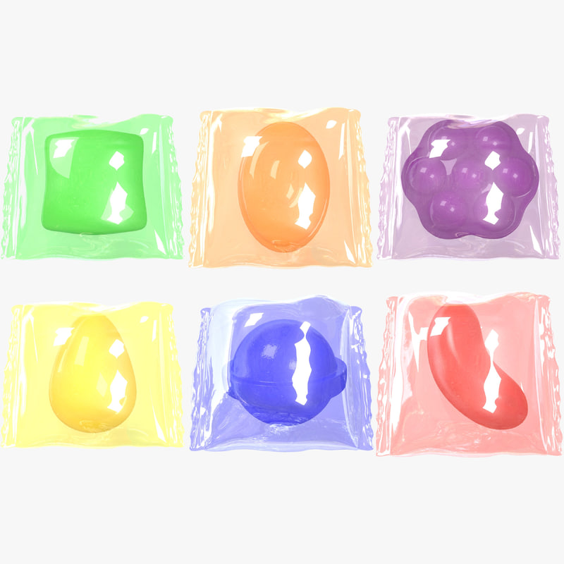 3D wrapped candy combo pack