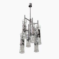 ceiling bamboo chandelier cl423 3D model
