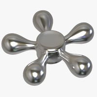 3D model ballz fidget spinner