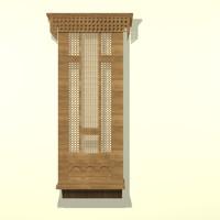 islamic mashrabyia 3D model