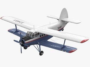 3D antonov an-2 2