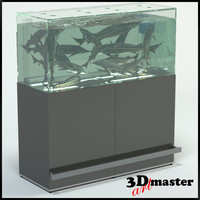 3D fish aquarium supermarket sturgeon