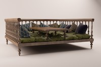 oriental daybed 3D