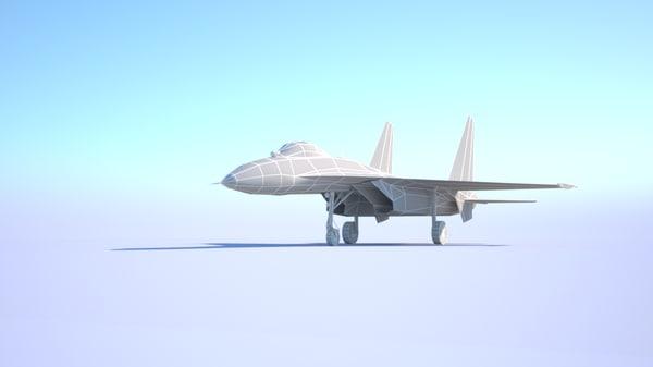 3D sukhoi su-27 flanker