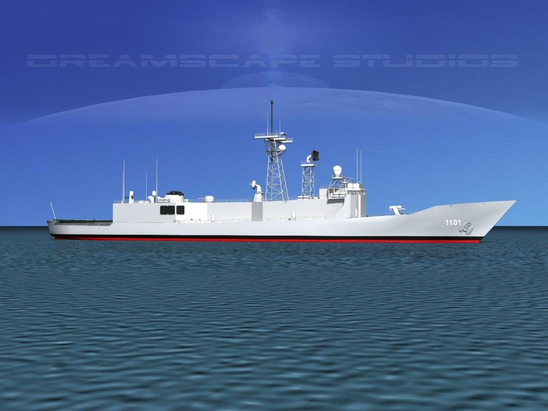 frigate cheng kung rocs 3D model