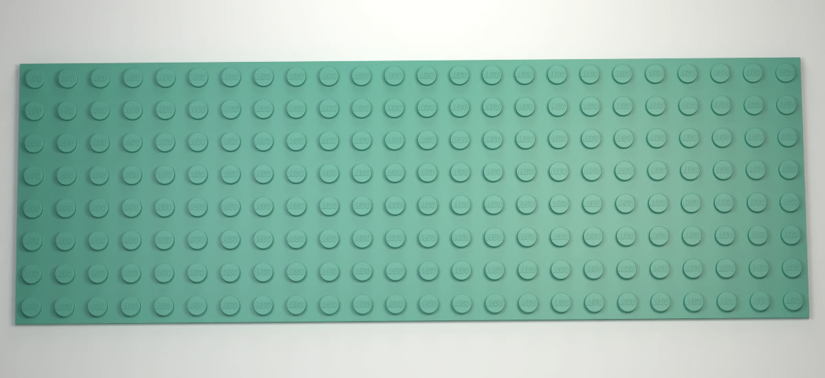 3D lego base plate 8x24