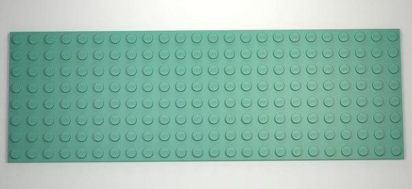 3D lego base plate 8x24