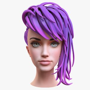 stylized female head model
