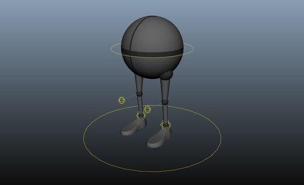3D model walker rig