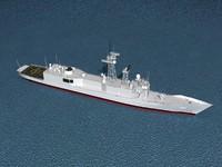 3D frigate rocs