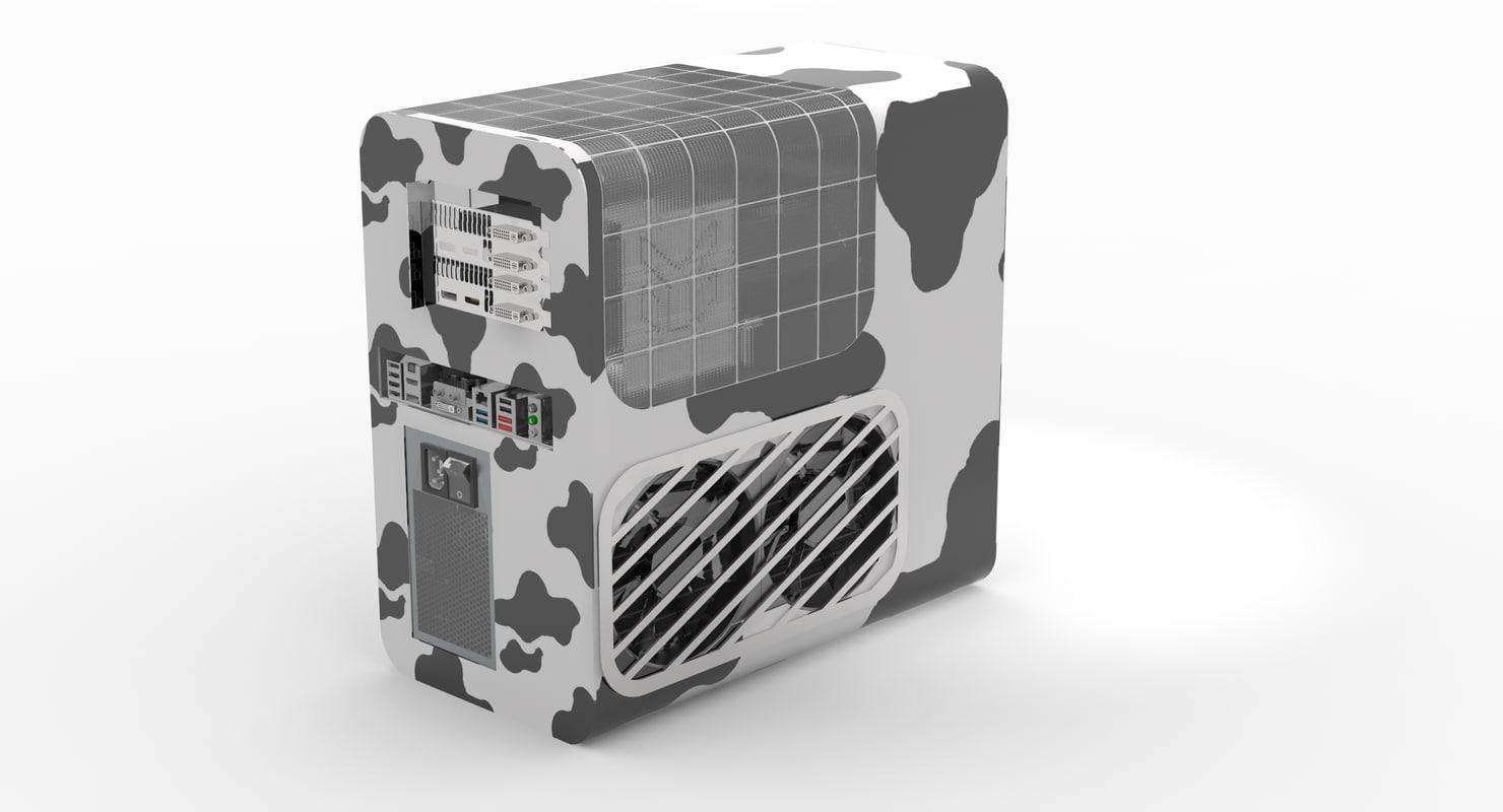 3D model desktop cpu deluxe pbz77