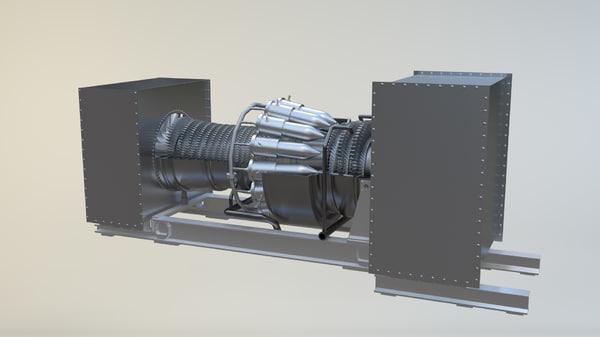 3D e9 gas turbine model