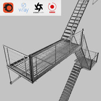 evacuation ladder 3D model