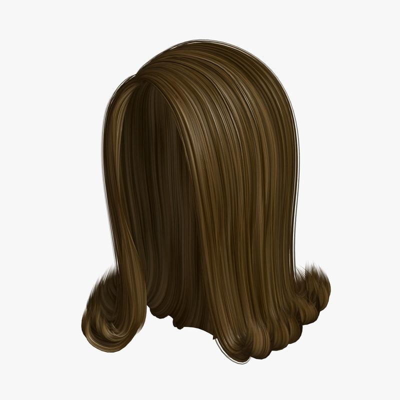 3D hairstyle 1 hair model
