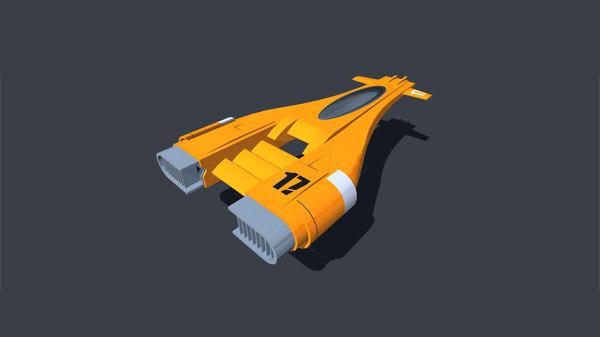 pod racer 3D model