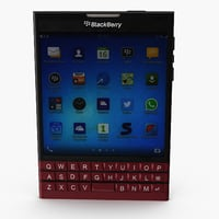 blackberry passport 3D model