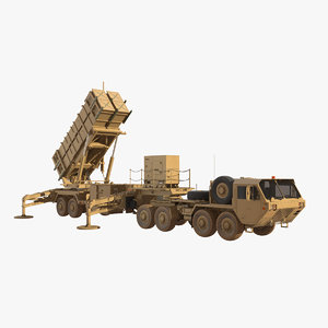 3D hemtt mim-104 patriot sam model