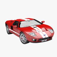 3D american sport car