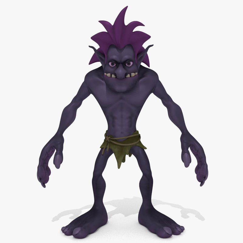 cartoon troll 3D