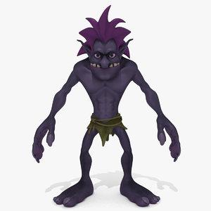 cartoon troll 3D