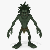 Cartoon Troll Green