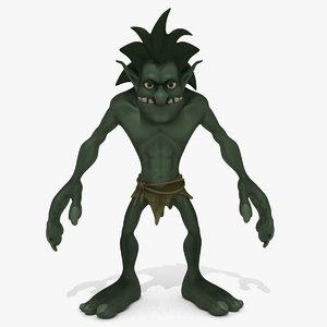 3D cartoon troll