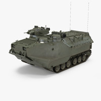 3D model assault amphibious vehicle aav7