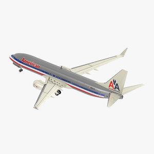 boeing 737-800 american airlines 3D