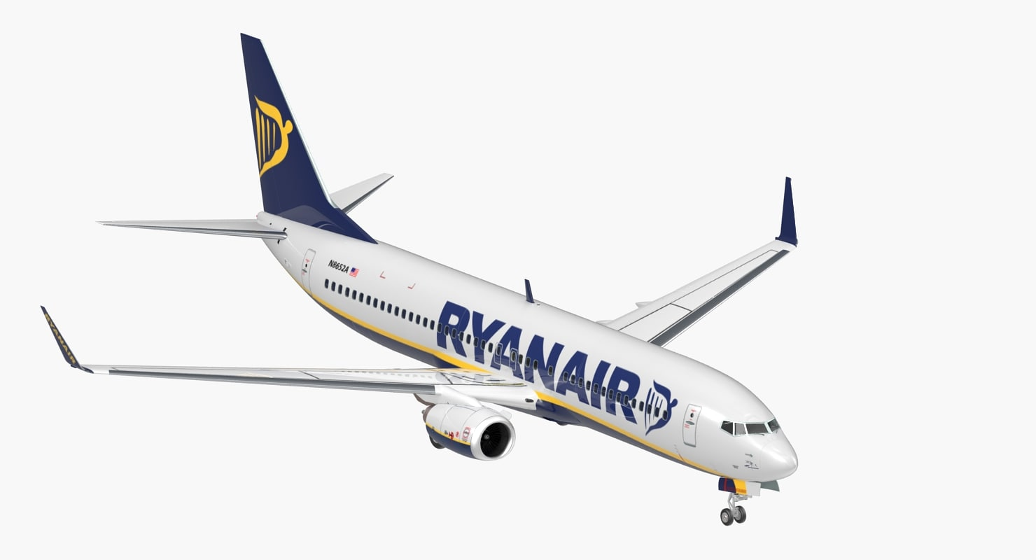 3D model boeing 737-800 ryanair
