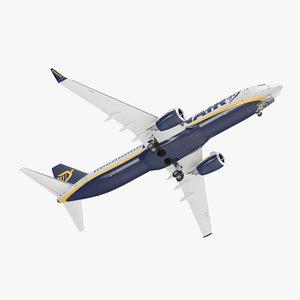 3D boeing 737-800 ryanair rigged