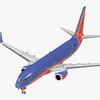 boeing 737-800 southwest airlines 3D model