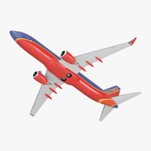 3D boeing 737-800 southwest airlines