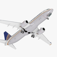 boeing 737-800 united airlines 3D