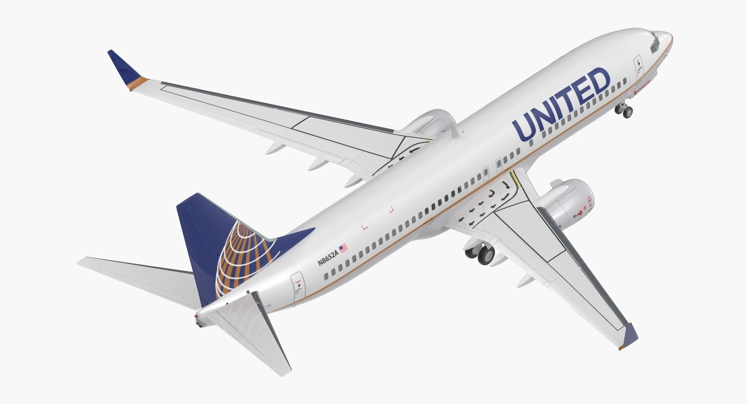 boeing 737-800 united airlines model
