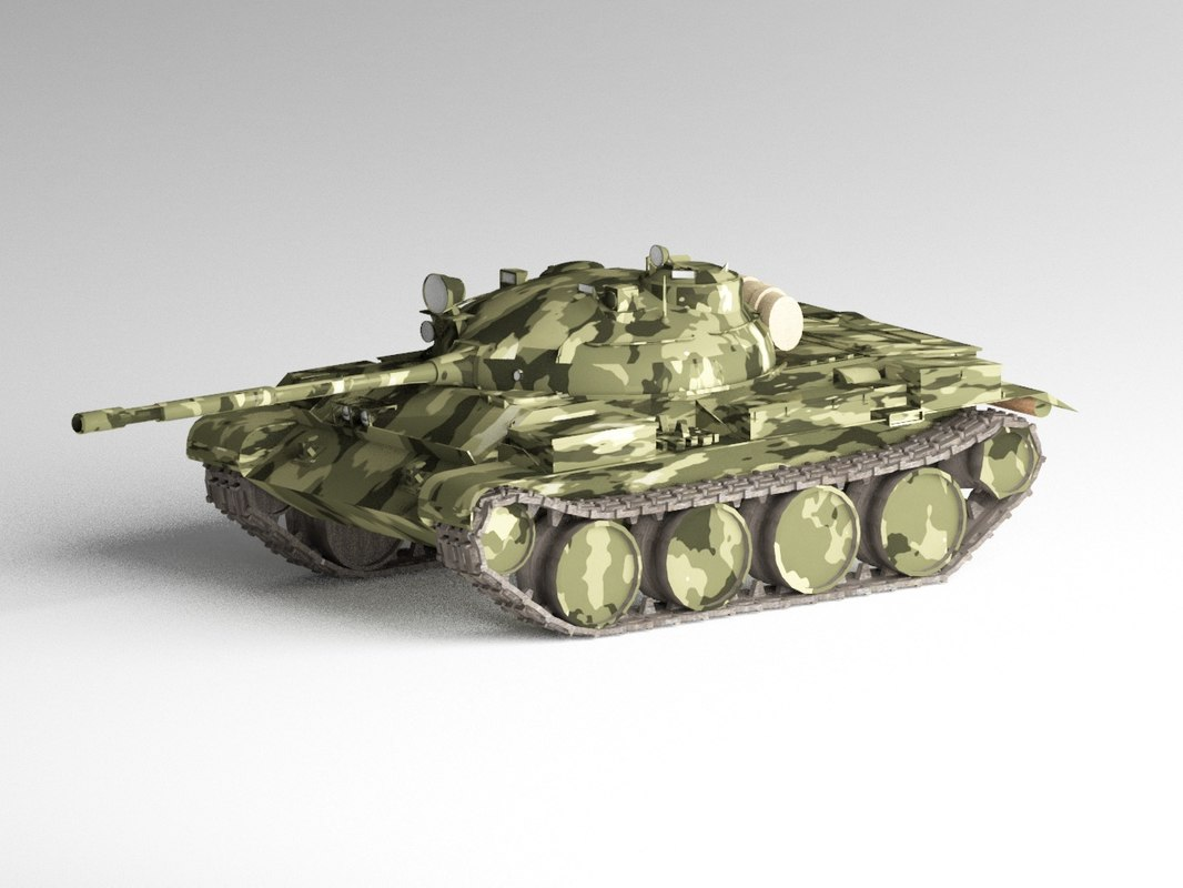 t-62 battle tank t-62a 3D