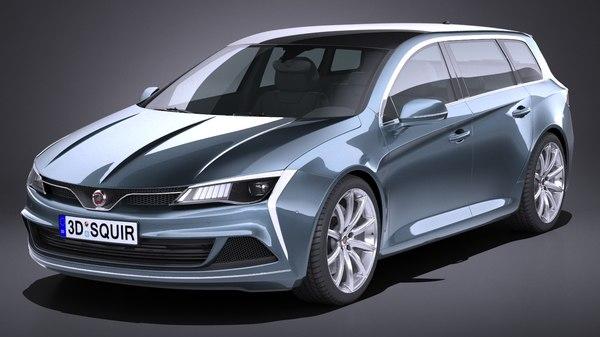 generic estate wagon 3D model